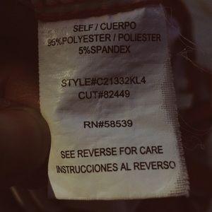 corey p Dresses - Red&Lt gray chevron print faux wrap minidress XS